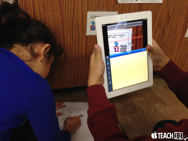 Scan the Room: Fractions Activity