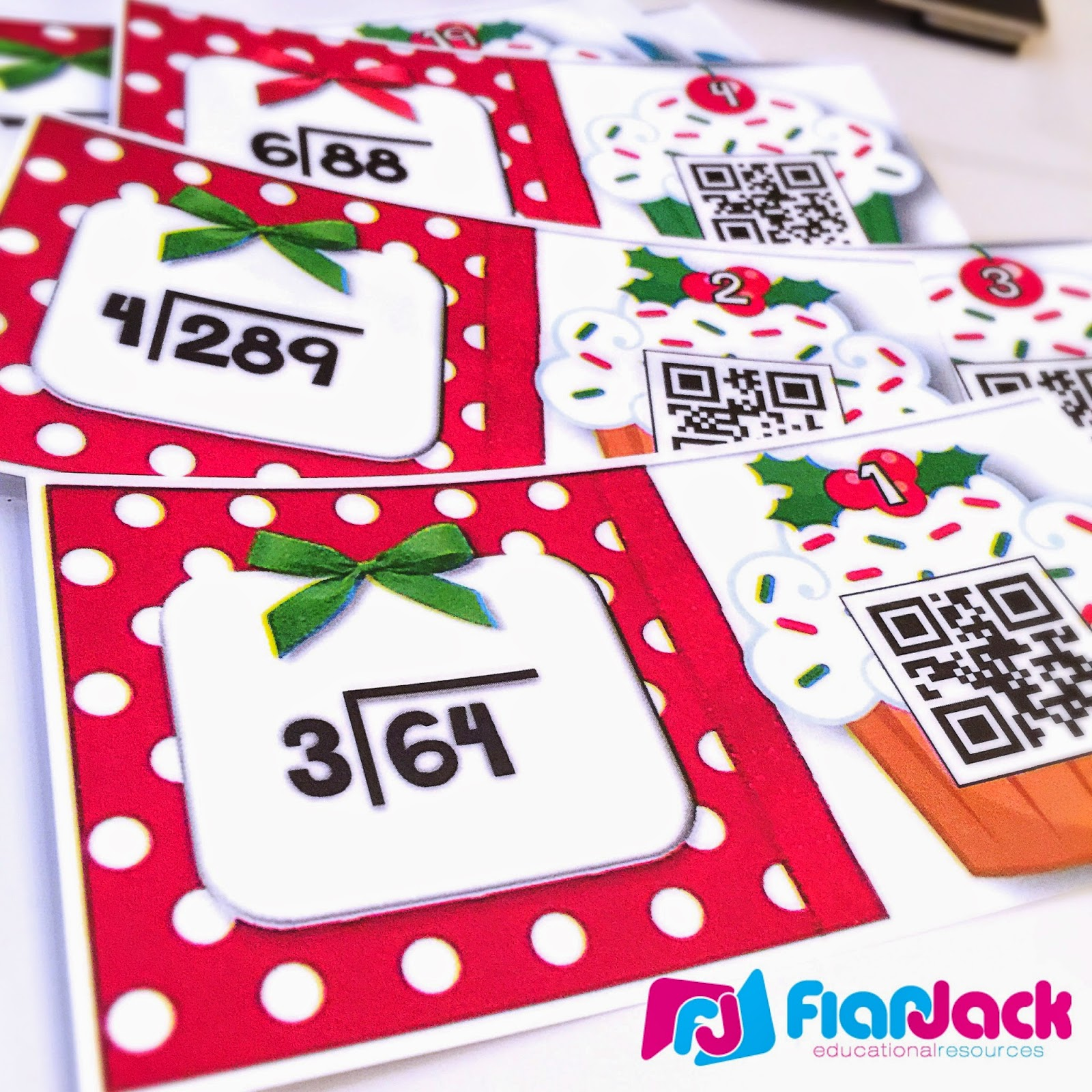 https://www.teacherspayteachers.com/Product/Holiday-Cupcakes-Long-Division-QR-Code-Task-Cards-1563263