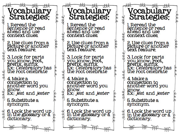 Figuring out unknown words graphic organizer freebie and free vocabulary strategies bookmark. Very helpful for teaching elementary students reading strategies such as content clues, affixes, etc.